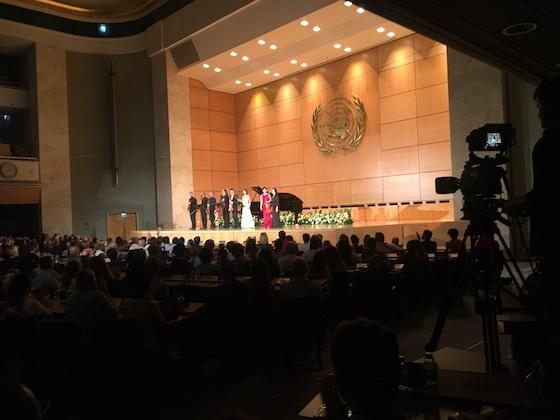 Assembly Hall bei den Vereinten Nationen in Genf