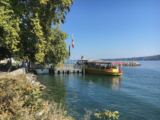Les Mouettes, das gelbe Genfer Bootstaxi