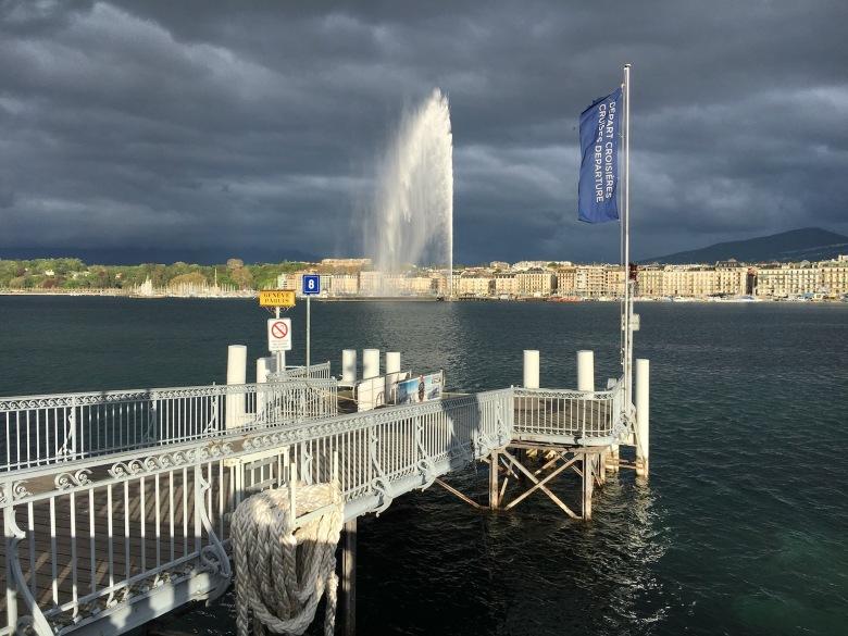 Jet d' Eau in Genf