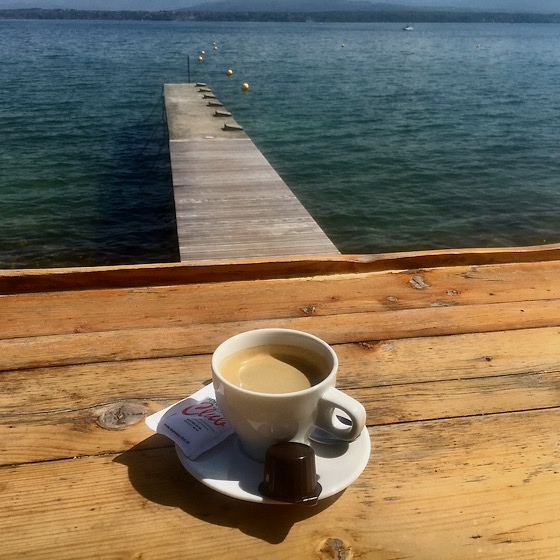 Kaffeepause am Genfer See