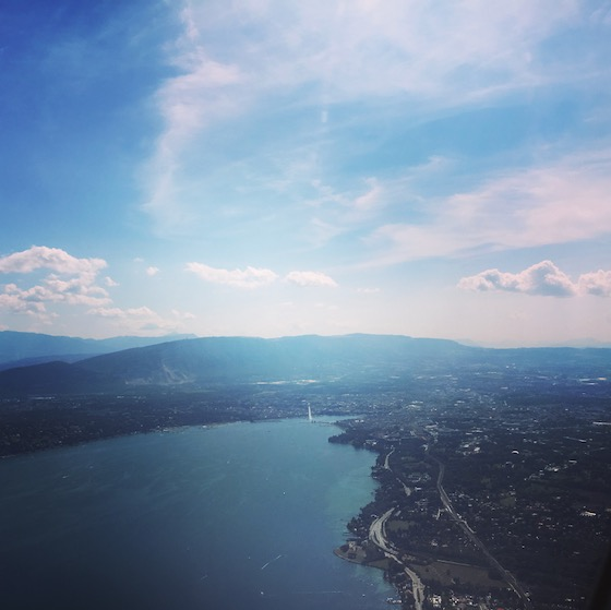 Luftaufnahme von Genf