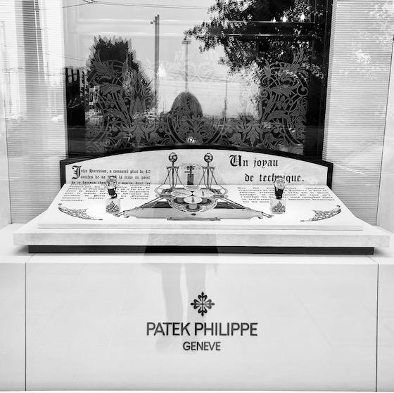 Schaufenster Patek Philippe in Genf