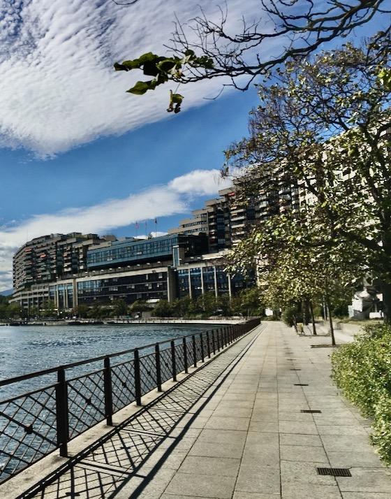 Quai du Seujet in Genf