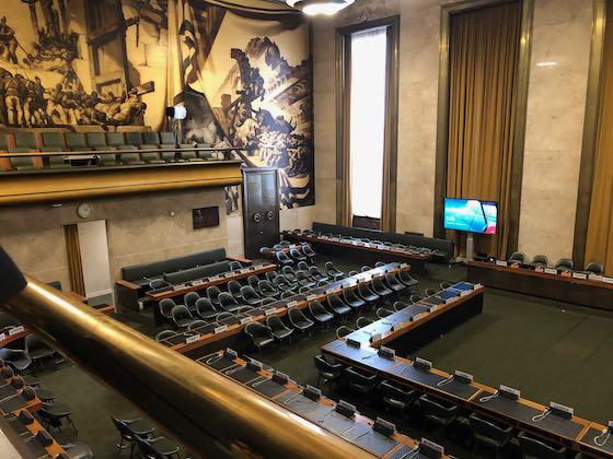 Historischer Saal im Völkerbundpalast