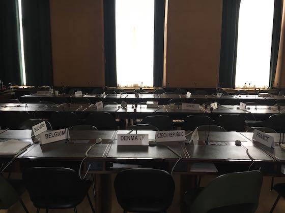 Sitzungssaal im Palais des Nations