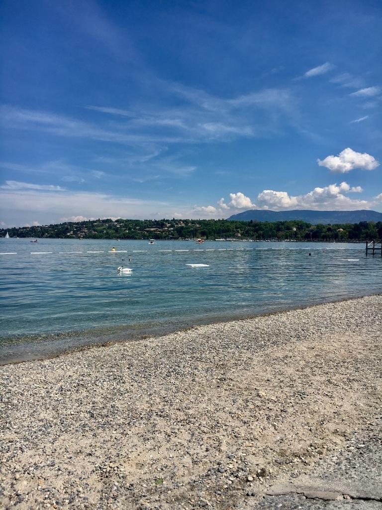Strand im Bains des Paquis
