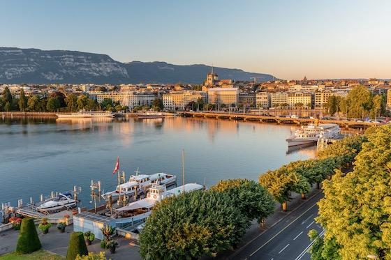 Aussicht vom Hotel Beau-Rivage