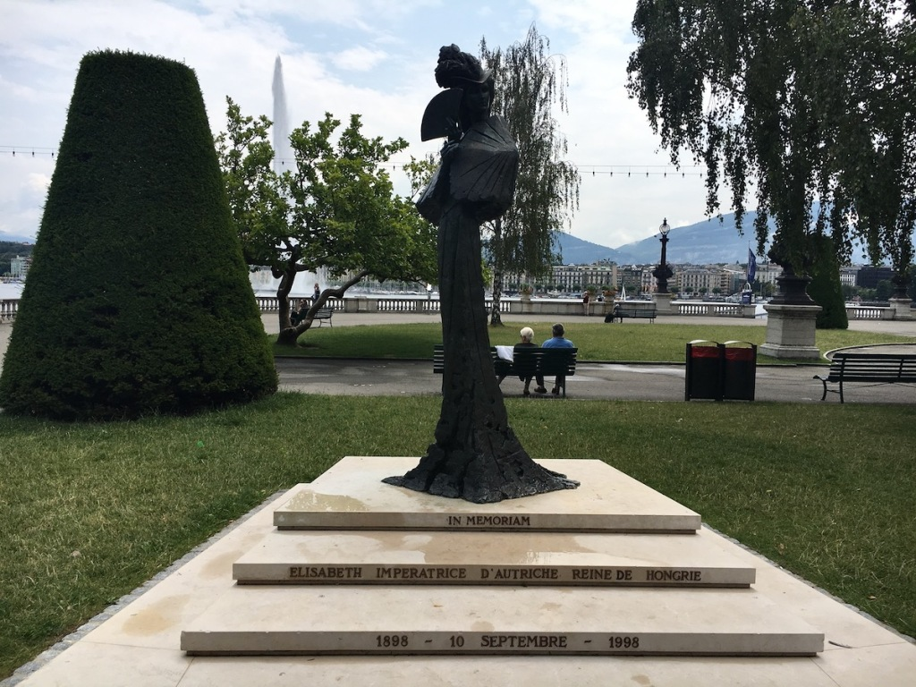 Sissi Statue am Genfer See