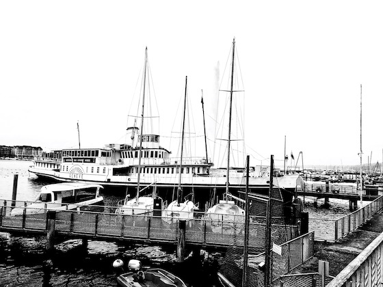 Der Schaufelraddampfer MS Geneve
